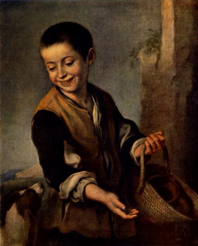 Murillo, Bartolome Esteban. A Boy with a Dog. 1650s. Oil on canvas. The Hermitage, St. Petersburg, Russia.