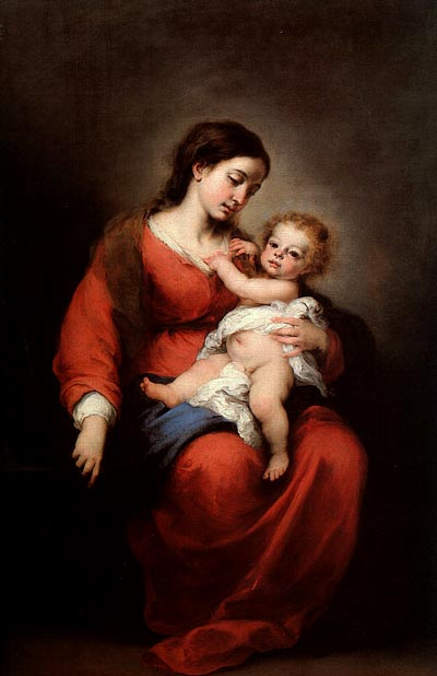 Murillo, Bartolome Esteban. Virgin and Child, 1672, oil on canvas, Metropolitan Museum of Art, New York