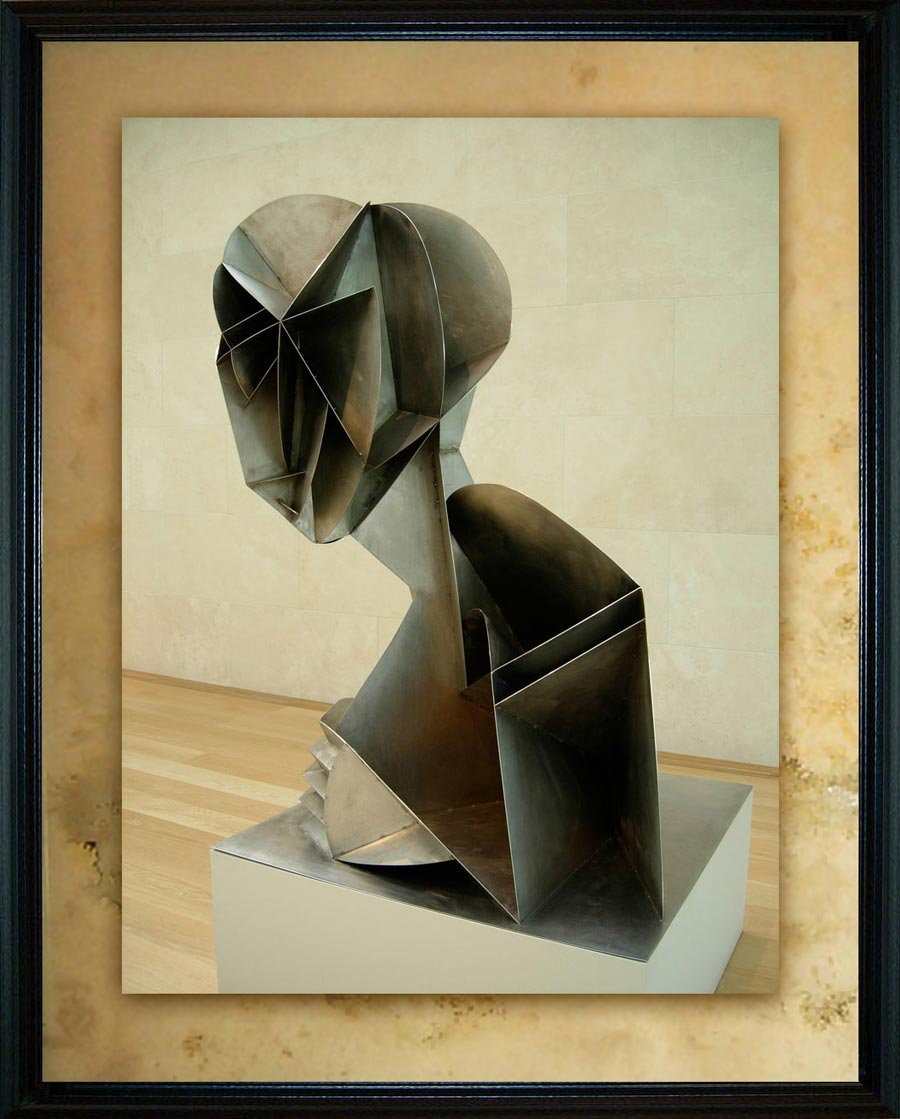 Naum Gabo (b. 1890 as Naum Pevsner in Briansk Russia; d. 1977 in Waterbury Connecticut). Constructed Head №2, 1916 (enlargement 1975). Nasher Sculpture Center, Dallas, TX, US.
